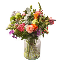 Ecological bouquet with vase